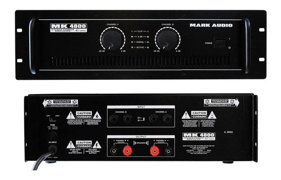 Amplificador Potência 800wrms Mark Audio Mk4800 Nota Fiscal