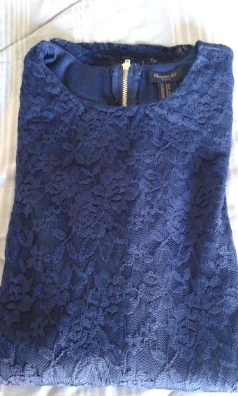 Vestido De Encaje Azul Forever 21 Original De Ee Uu
