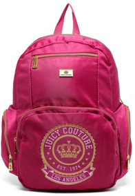 Mochila Juicy Couture Pink Acetinada Original Santino