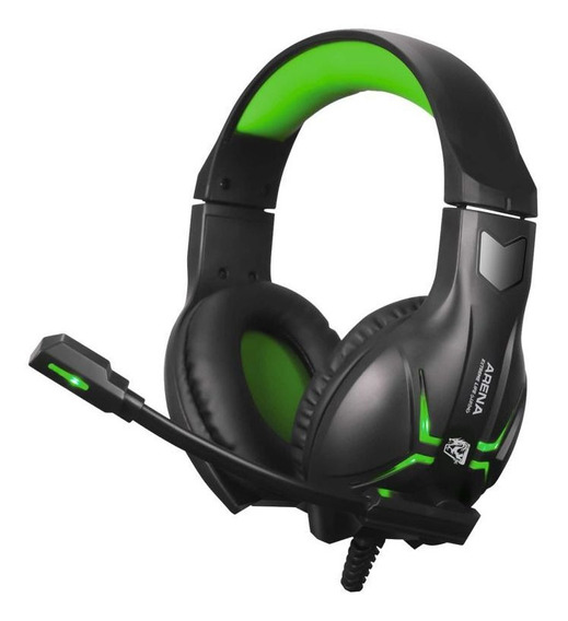 Headset Gamer Arena Surround Led Verde 50mw Cabo 2m Elg Hgar