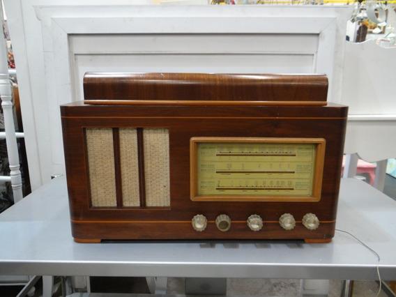 Antigo Rádio Motoplay Com Toca Disco Valvulado