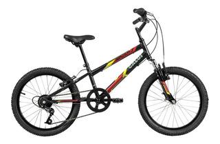 Bicicleta Infanto Jv Caloi Snap Aro 20 - Susp 7 Vel - Preto