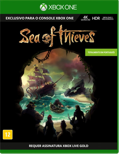 Sea Of Thieves Jogo Xbox One Mídia Física Lacrado Português