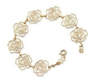 Pulseira Pequenas Rosas Vazadas Rommanel 550765
