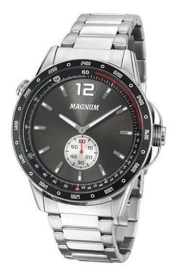 Relógio Masculino Magnum Aço Prata Ma34058w - Super Promoção