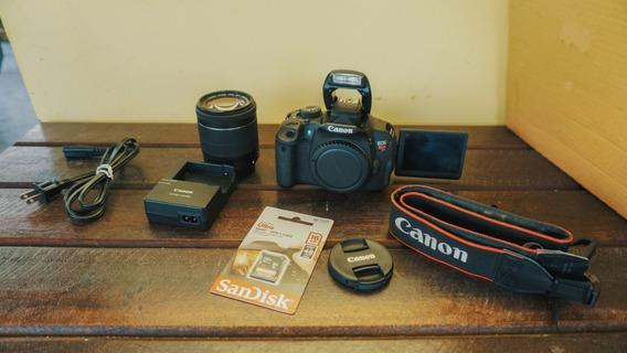 Canon T5i + Lente18-55mm Stm + Cartão 16gb + A Vista 1850,00