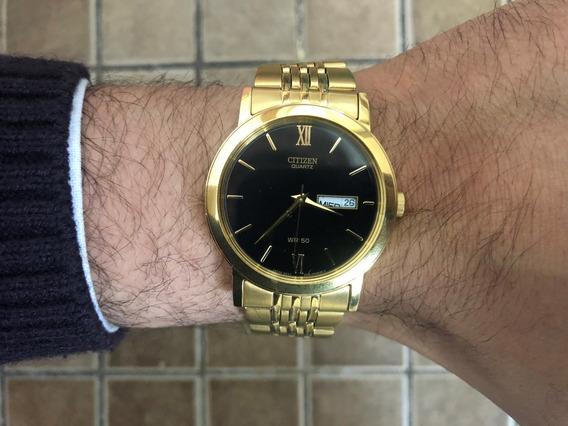 Reloj Citizen Dorado Con Fechador 100% Original