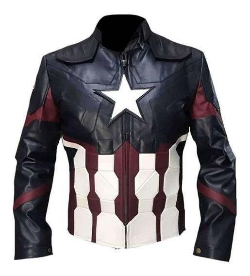 Chamarra De Piel Capitán América Large