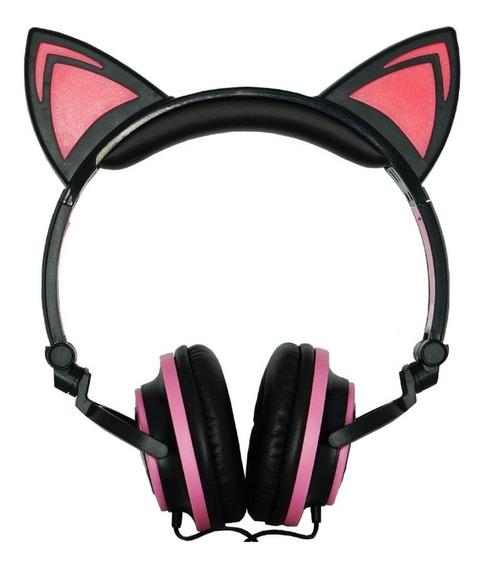 Fone de ouvido Exbom HF-C22 preto e rosa