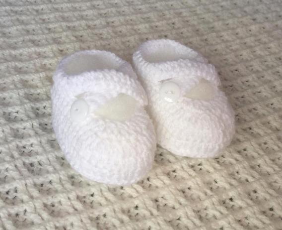 Sapatinho De Crochê Para Bebe Feminino Ou Masculino