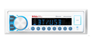 Estereo Nautico Boss Mr400uab Marine Single Din - Bt/usb