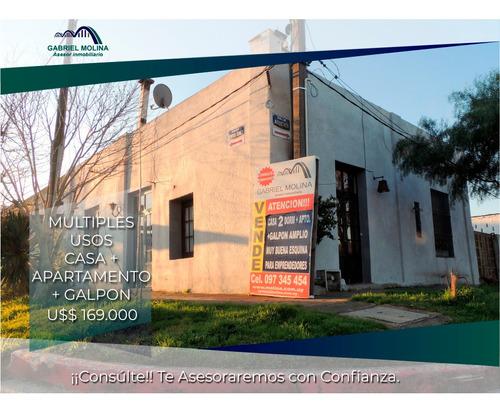 Venta Casa + Apartamento + Galpón. Oportunidad!!