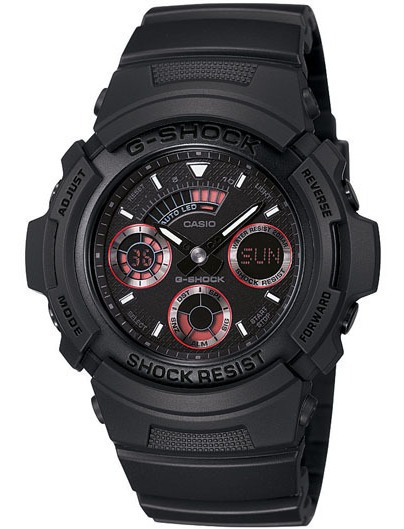 Relogio Casio G-shock Aw-591 Blackout 100% Novo E Original