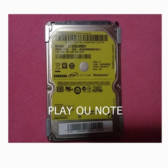 Hd Interno 320gb P/notebook Play 4 Play 3 Marcas Diversas