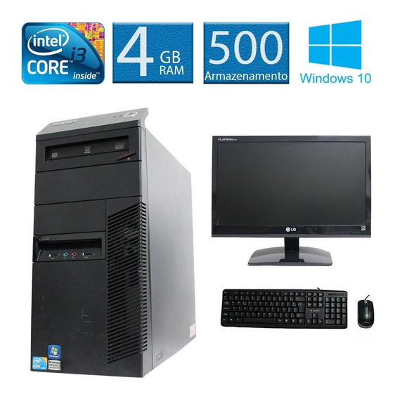 Computador Lenovo Thinkcenter M90 I3 4gb 500hd Monitor 19