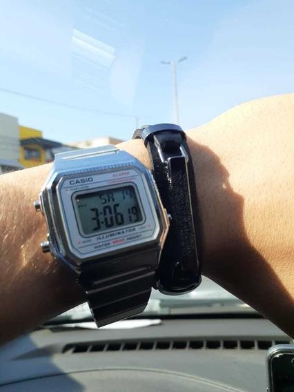 Relógio Casio Vintage Prata Unissex