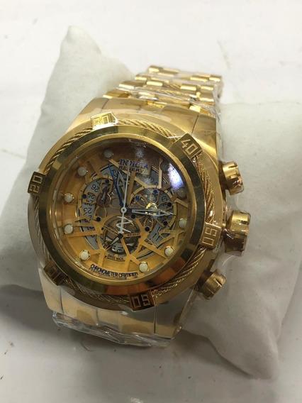 Relógio Invicta Zeus Skeleton Dourado