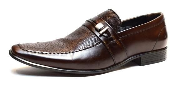 Zapato De Cuero Democrata Hombre Triton Flex 083121 Cuotas