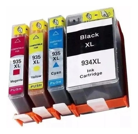 Kit Cartucho Compativel 934xl 935xl Officejet Pro 6230 6830