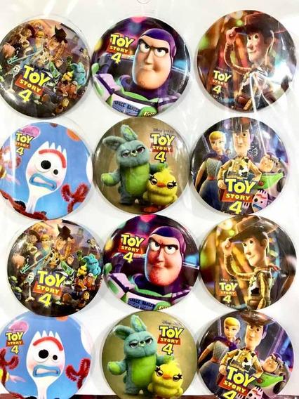 Toy Story 4 Paquete Con 12 Botones Pines Metálicos Fiesta