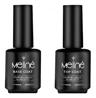 Esmalte Meline Semipermanente Combo Base Coat + Top Coat