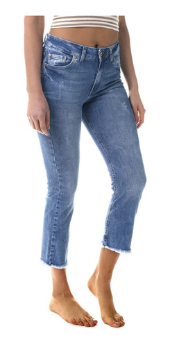 Jean Rusty Mujer Straight Slim