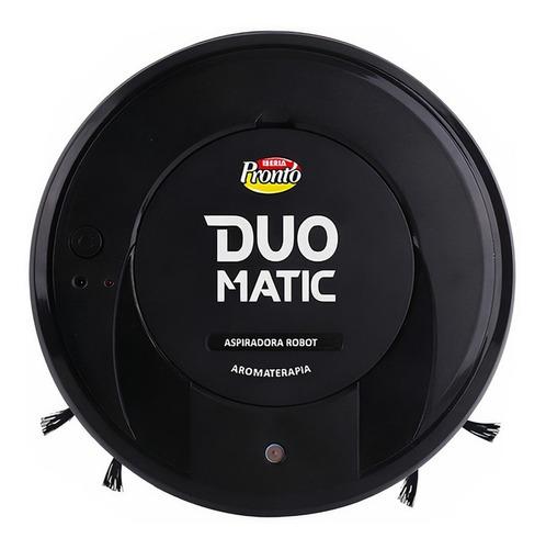 Imagen 1 de 2 de Aspiradora trapeadora robot Iberia Robot Duo Matic negra 220V con aromaterapiaAromaterapia