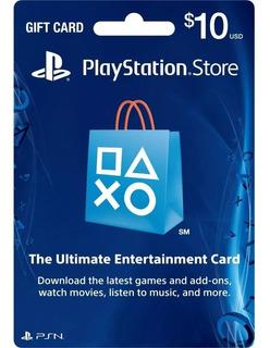 Playstation Card Psn $10.00 Envio Inmediato!! Cuenta Usa