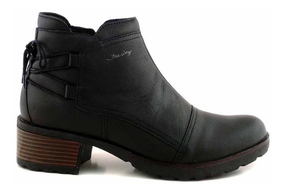 Botineta Cuero Mujer Bota Botin Zapato Taco Goma Mcbo24864