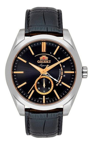 Relógio Masculino Prata Automático Orient Pulseira Couro