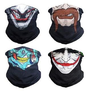 Vczuiuc Headband Skull Face Mask Clown Bandana Head Wrap Sca