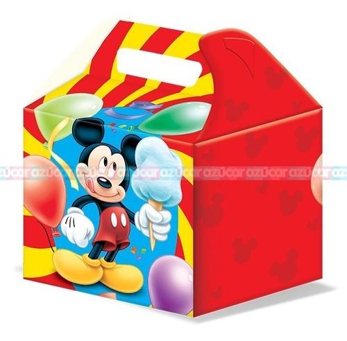 Imagen 1 de 2 de Club Mickey Mouse Paq 6 Pzas Cajitas Dulceras Feliz Bolo