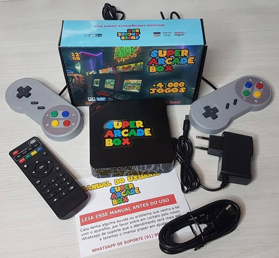 Super Arcade Game Box Retrô - Joystick Snes - O Original