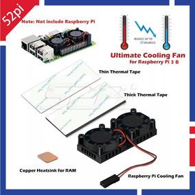 Cooler Duplo Premium 2.0 Dissipador Para Raspberry Pi3 Pi 3