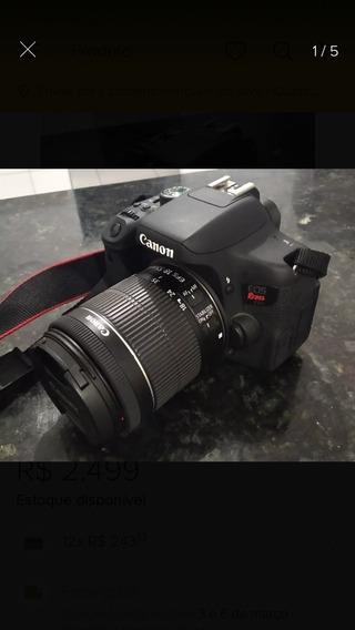 T6i.. Zerada. Duas Lentes (900 Clicks) Apenas Com Bag Canon