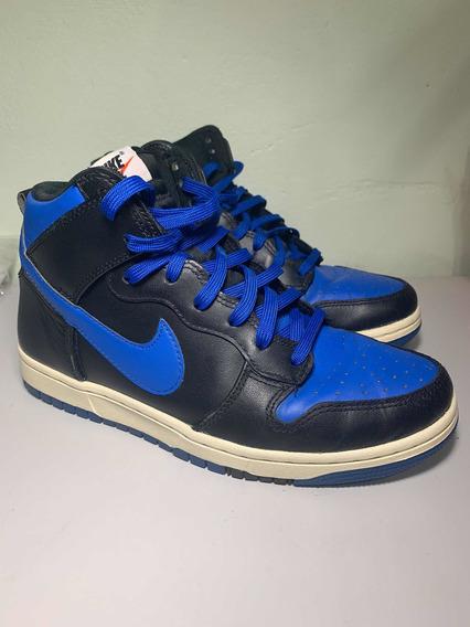 Tênis Nike Dunk High - Azul E Preto
