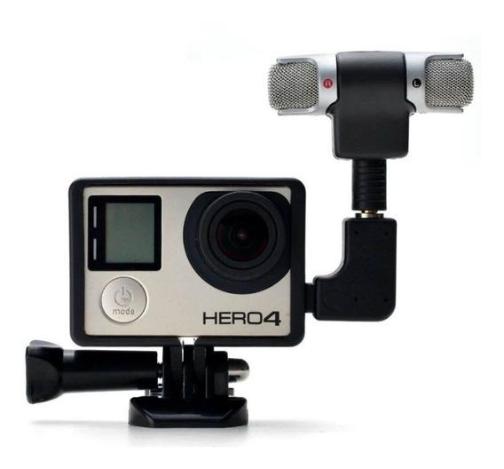 Canalgopro Microfone Externo + Frame + Adaptador Gopro 33+4