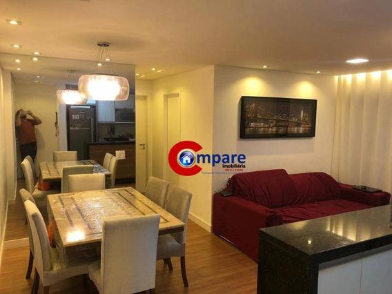 Apartamento Com 2 Dormitórios Sendo 1 Suite À Venda, 65 M² Por R$ 430.000,00 - Picanco - Guarulhos/sp - Ap6728