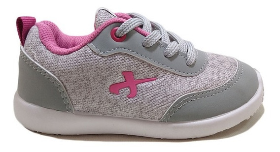 Zapatillas Jaguar Mujer Joggers Urbanas Gris-rosa Nº21/26