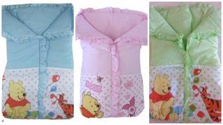 Enxoval De Bebe Cobertor Saco De Dormir Pooh Minnie Mickey