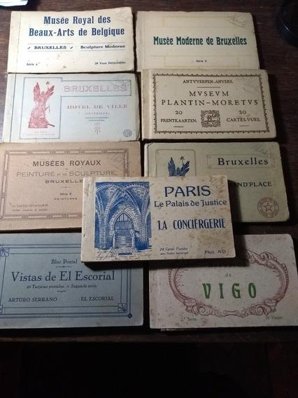 Nueve Libritos De Postales Antiguas 152 Postales En Total