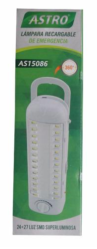 Lámpara Recargable De Emergencia Luz Led Y Flourecente