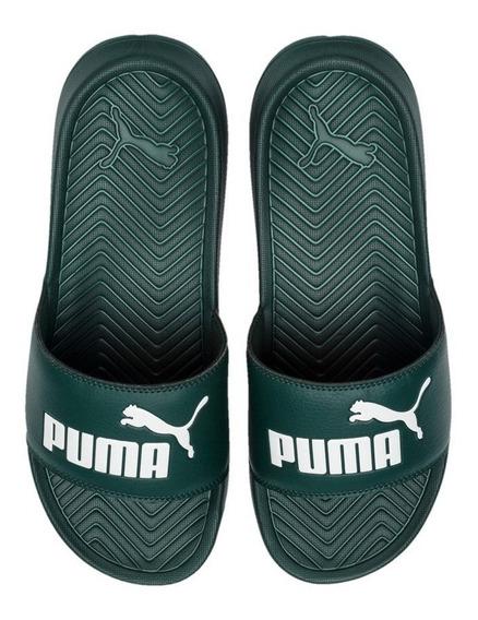 Chinelas Puma Pop Cat Verde Unisex