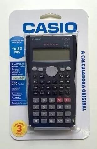 Calculadora Cientifica Casio Fx-82ms Com Nfe E Garantia!!!