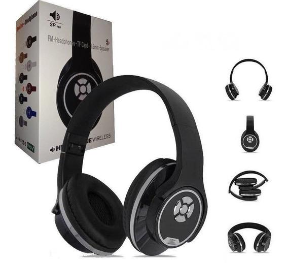 Fone De Ouvido Headphone Bluetooth Vira Caixinha De Som- Spg