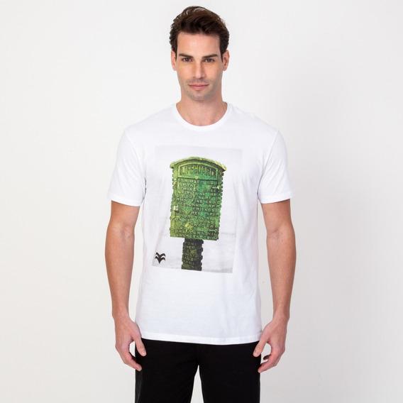 Camisa T-shirt Masculina Estampada Branca Vonpiper