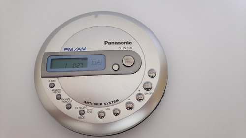 Discman Panasonic Sv550 Toca Cd Mp3 Rádio Am/fm Funcionando!