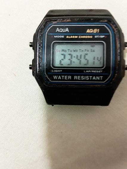 Relógio Aqua Aq-81. Funcionando Perfeitamente