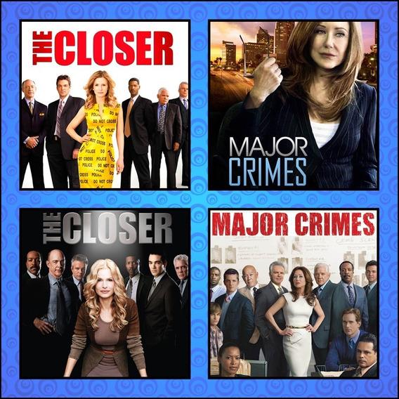 Séries Completas Major Crimes E The Closer Dublado + Encarte