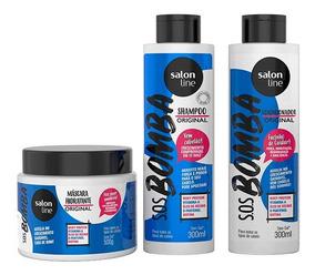 Kit S.o.s Bomba Shampoo Condicionador E Máscara Salon Line